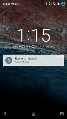 Sign into network on Android