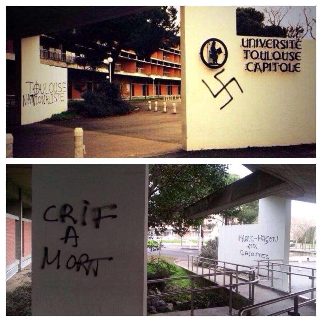 pintadas nazis, homofóbicas y racistas en Toulouse