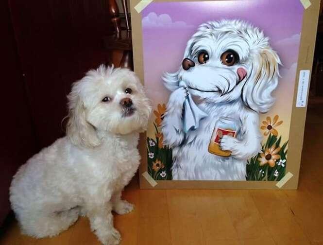Artista faz sucesso criando desenhos de animais de estimação de pessoas de todo o mundo