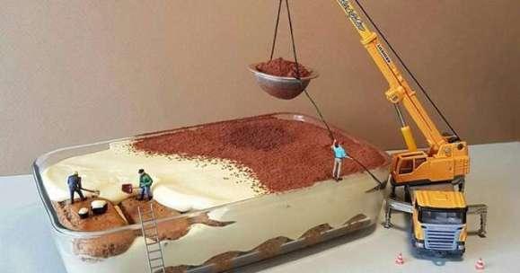 Chef italiano cria mundos em miniatura com sobremesas