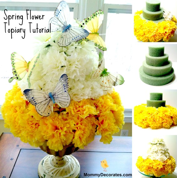 How To Make A Spring Flower Topiary