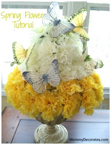 Spring Flower Topiary Close-up