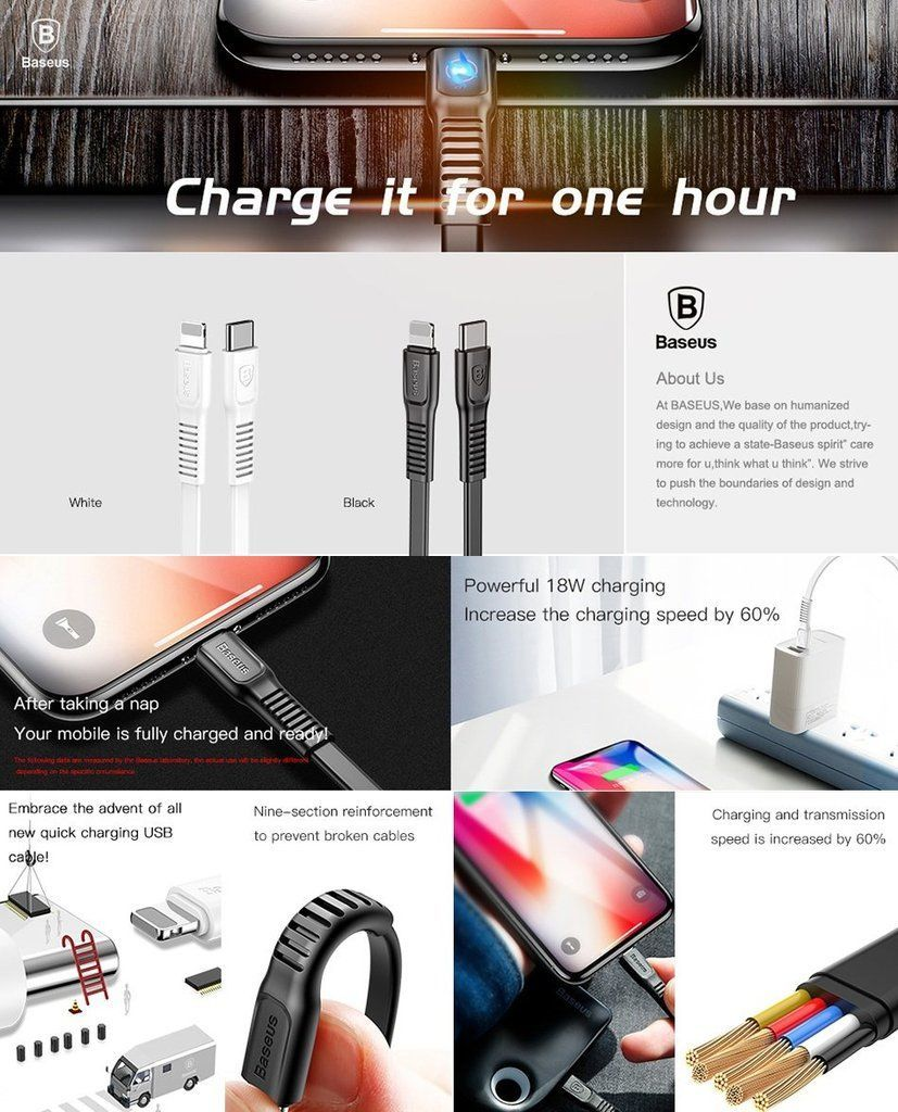 Baseus Tough Series Type C To Lightning Cable Ip Iphone Cable Fast Charger (1)