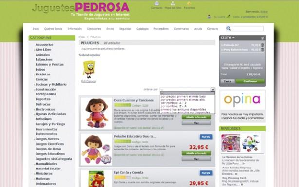Tienda de juguetes online