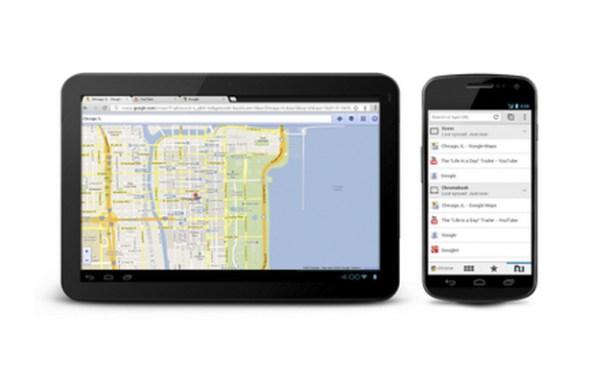 El navegador Chrome para tabletas y teléfonos Android