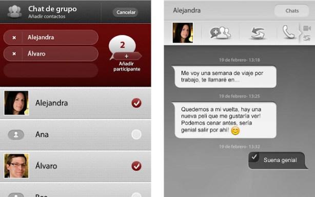 Capturas de pantalla de la app Joyn