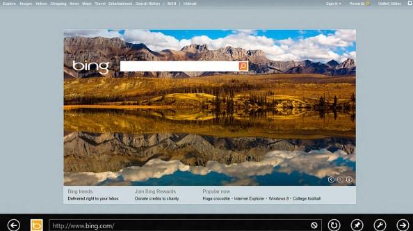 Internet Explorer 10 en Windows 8 con Bing