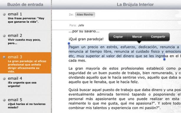 Los lectores pueden copiar, marcar y compartir en las redes cualquier texto