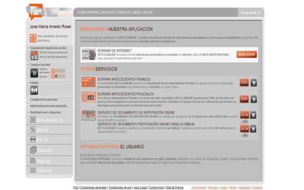 Netclean4.me ofrece un servicio de seguimiento de reputación online