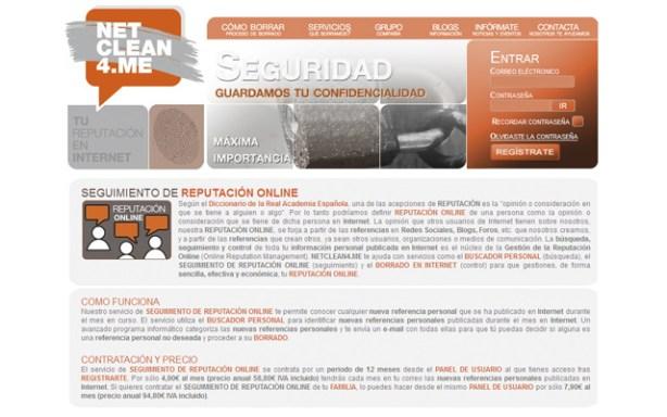 NetClean4.me tiene un servicio familiar de seguimiento de reputación online