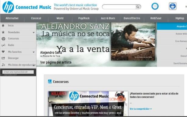 Además de música, HP Conneted Music ofrecerá eventos exclusivos.