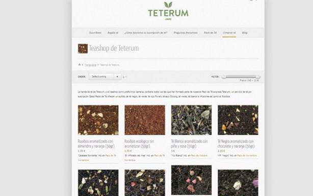 Tienda de té de Teterum.com