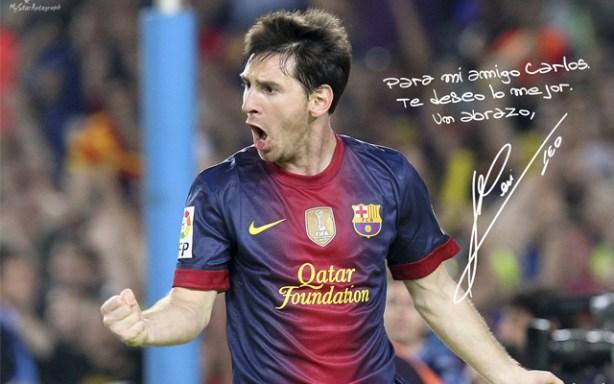 Leo Messi forma parte del catálogo de MyStarAutograph