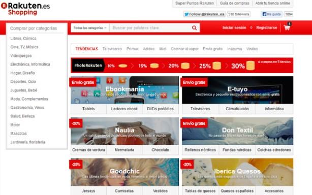Rakuten abre su centro comecial online en España