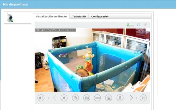 Puedes monitorizar a tu bebé desde tu ordenador o dispositivo móvil