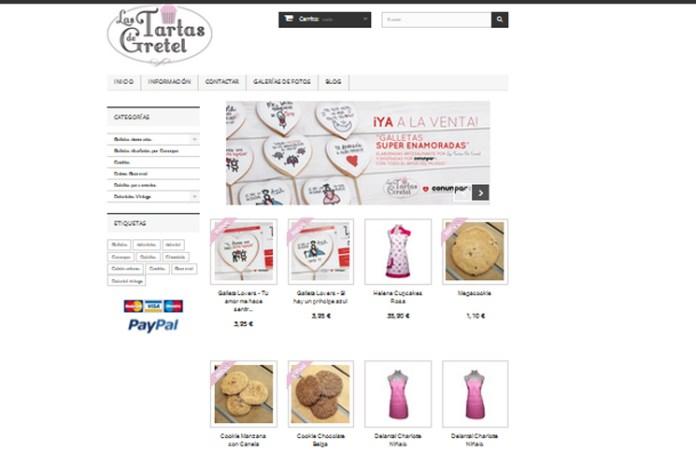 Tienda online de Las Tartas de Gretel