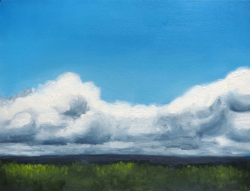 Dark clouds over field 1