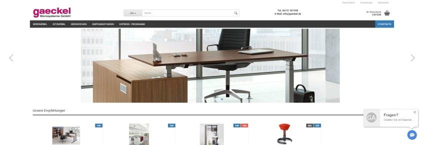 Gaeckel Shop Gaeckel Büromöbel