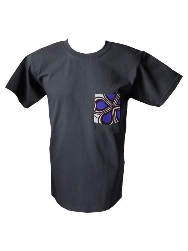 HIBOU Purple Cloud Mens Patch Pocket T-Shirt SK