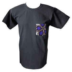 HIBOU Purple Cloud Mens Patch Pocket T-Shirt SK