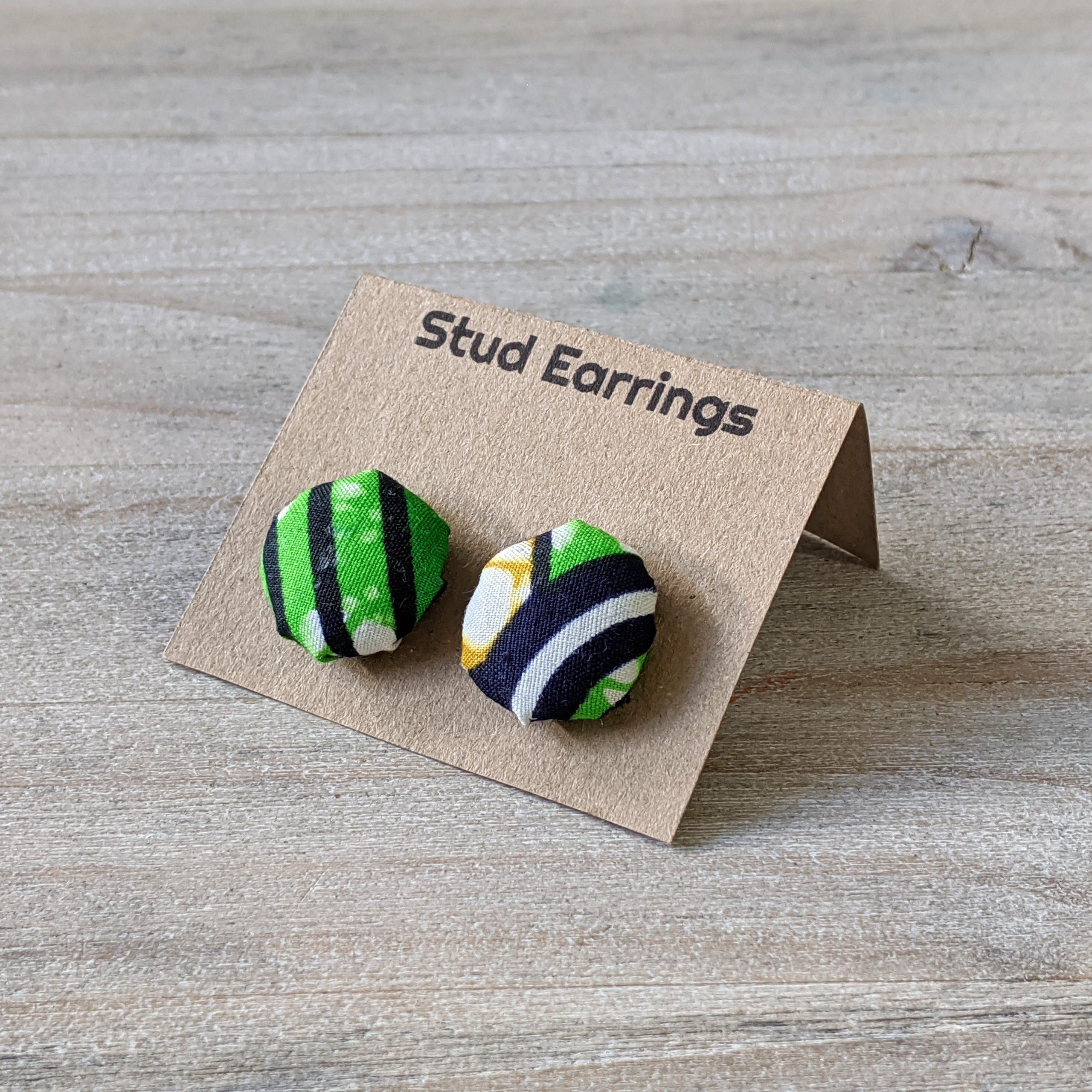 HIBOU Green Space Ship stud Earrings a