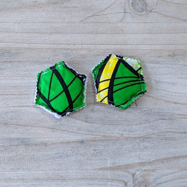 HIBOU Yellow Green Spiral Hand Warmer Hexagone a