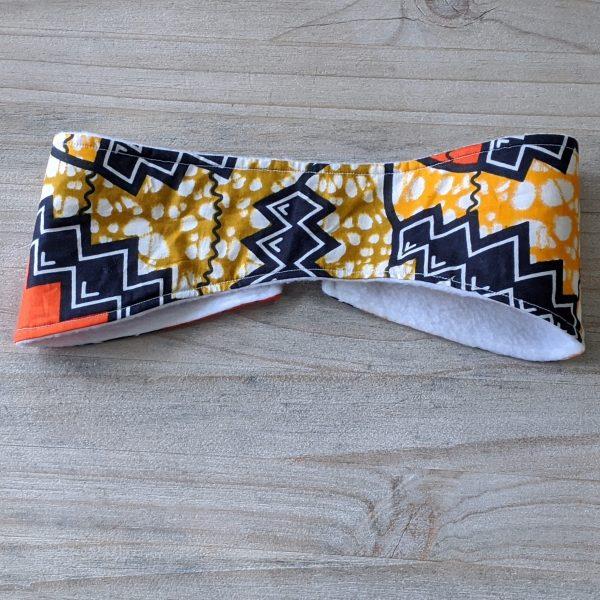 HIBOU Orange Zigzag Winter Cozy Headband a3