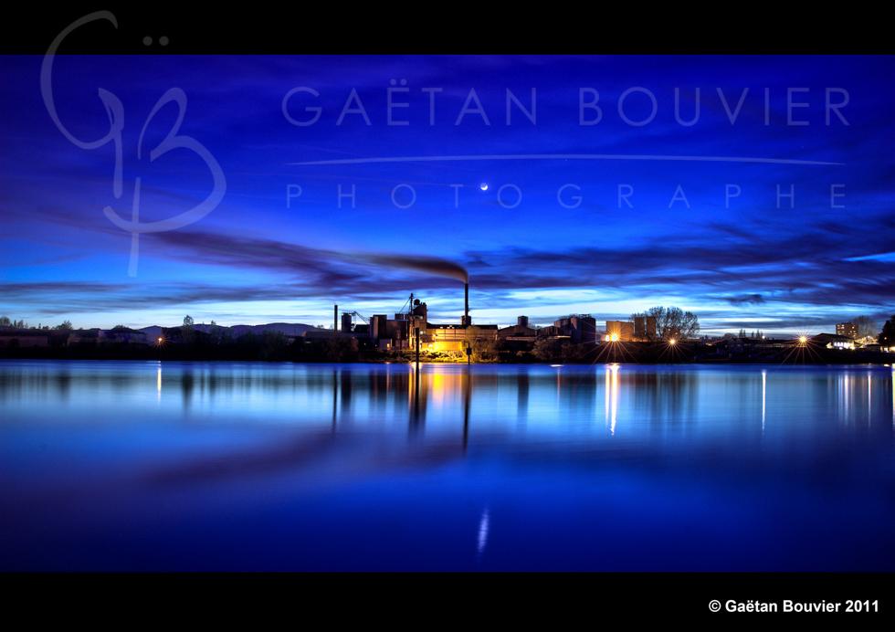 Paysage-Mâcon-Saône-Coucher-soleil-Nuit