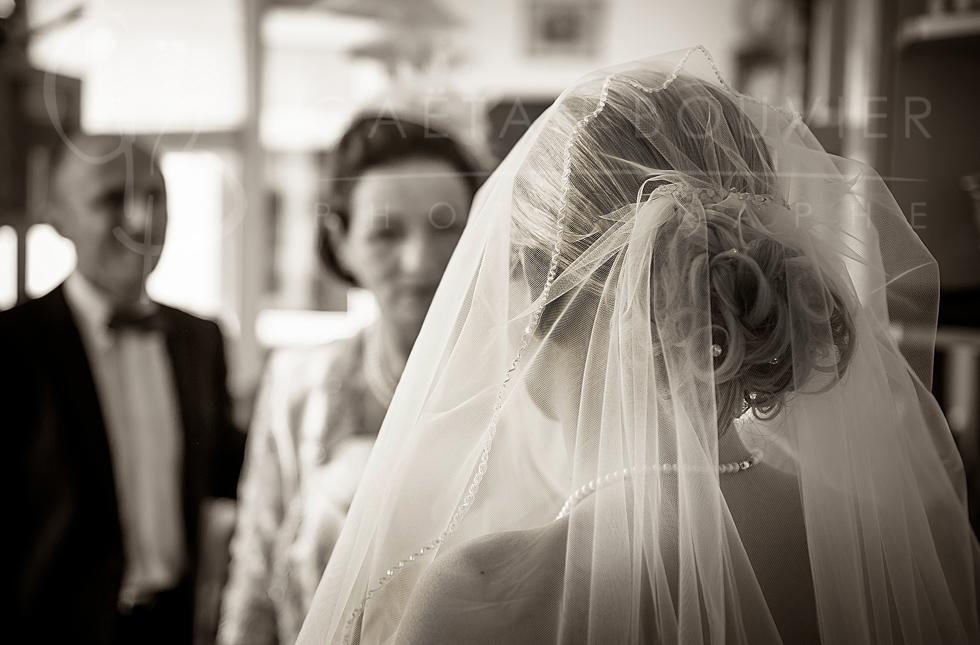La mariée avec ces parents