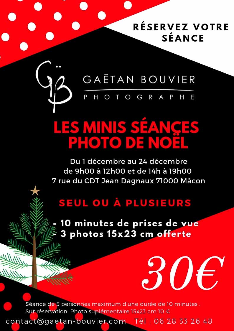 Séance photo Noël photographe Mâcon