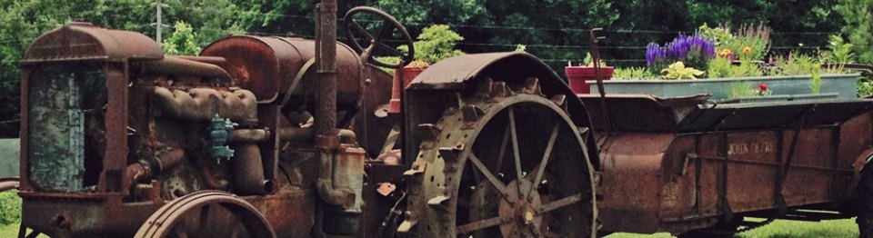old tractor outside Cohutta country store in blue ridge georgia