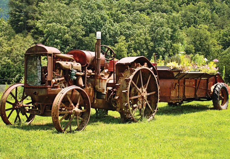 old tractor at Cohutta Country Store