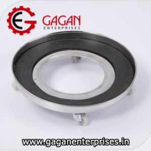Gagan Enterprises Stainless Steel Gas Cylinder Trolley