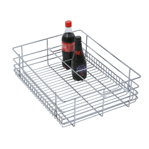 BOTTLE BASKET (6″ HEIGHT X 15″ WIDTH X 20″ DEPTH) 6MM WIRE STAINLESS STEEL
