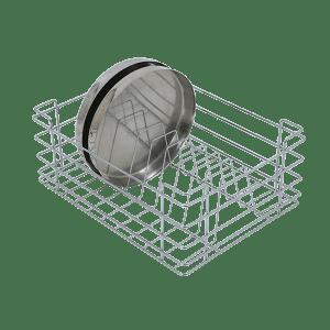 Sleek Thali Basket (8″ Height X 17″ Width X 20″ Depth) Stainless Steel
