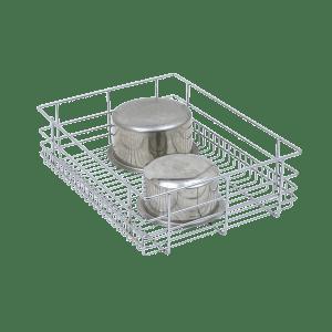 PLAIN DRAWER BASKET (4″ HEIGHT X 19″ WIDTH X 20″ DEPTH) 6MM WIRE STAINLESS STEEL