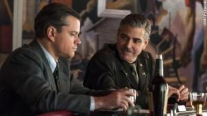 George Clooney in una scana di Monument Men