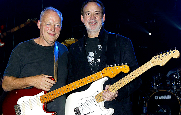 David Gilmour con Phil Manzanera, ex Roxy Music e coproduttore di Rattle That Lock