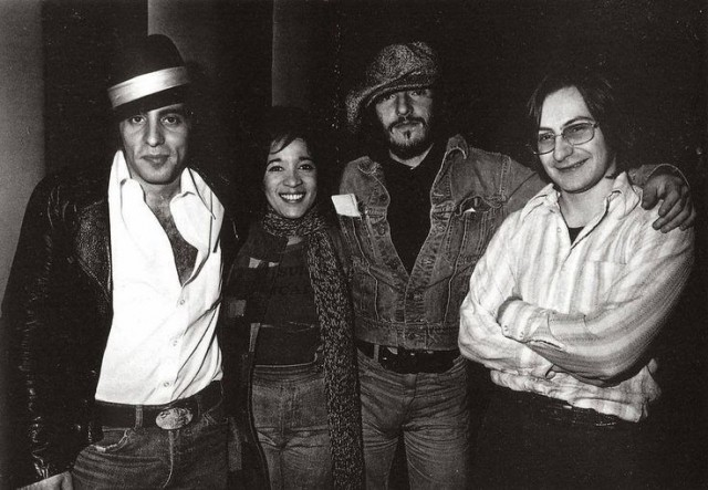 Ronnie Spector con Little Steven, Bruce Springsteen e Southside Johnny – 1976