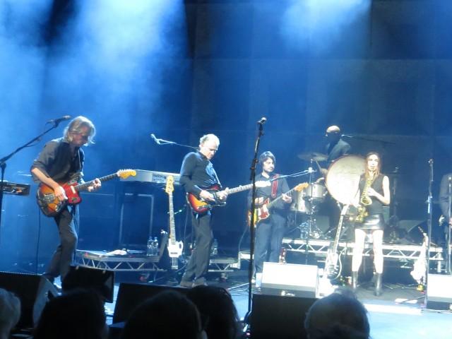 PJ Harvey con James Johnston dei Gallon Drunk, Mick Harvey e Alessandro Asso Stefana dei Guano Padano