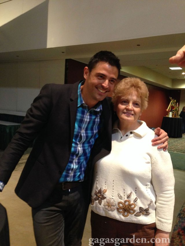 John Gidding with Fans
