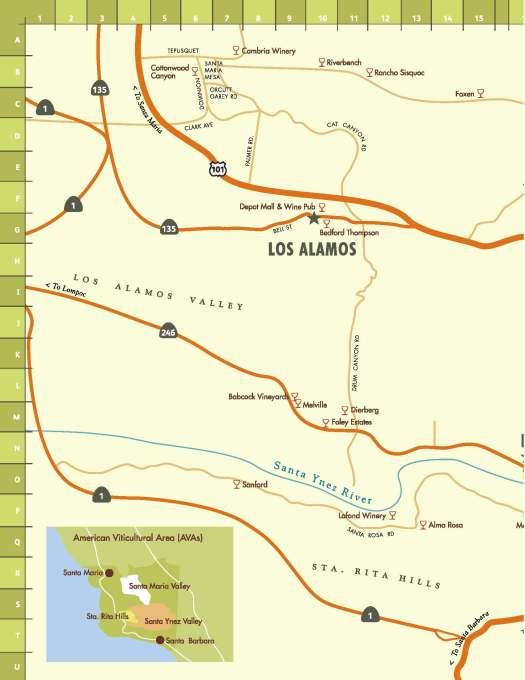 Santa Ynez Wine Tasting Map Page 1
