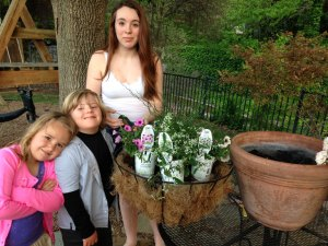 Planting A Basket for Mom | The Little Ones Adore Big Sister
