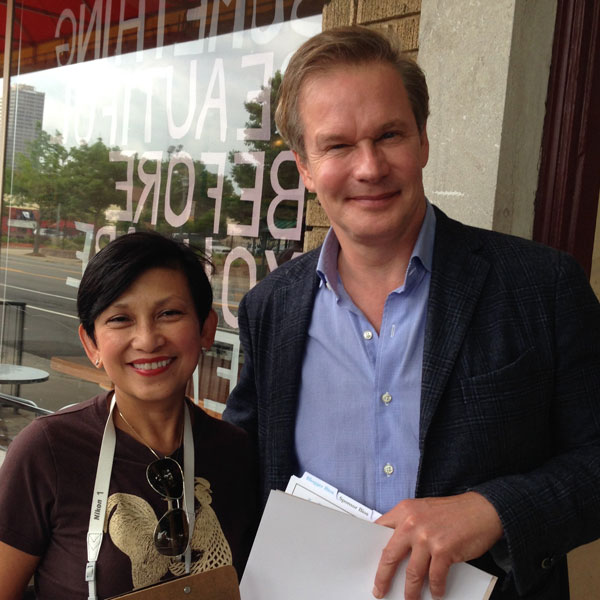 The winning Team P. Allen Smith and Mimi San Pedro