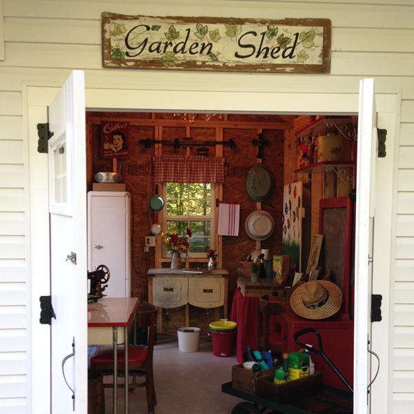 The Garden Shed Side Door