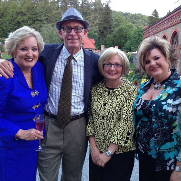 Susan Fox, Paul Zimmerman, Teresa Byington, Tina Van Cleave at Biltmore Rose Trials reception