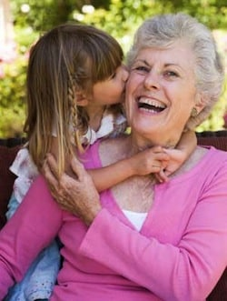 Grandma and granddaughter