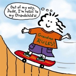 grandma skateboarding