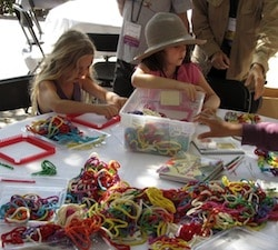 girls at crafts table