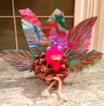 Make an Adorable Pine Cone Turkey for Thanksgiving